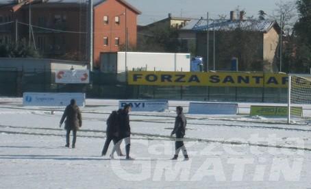Calcio: la neve fa saltare anche Santarcangelo-VdA
