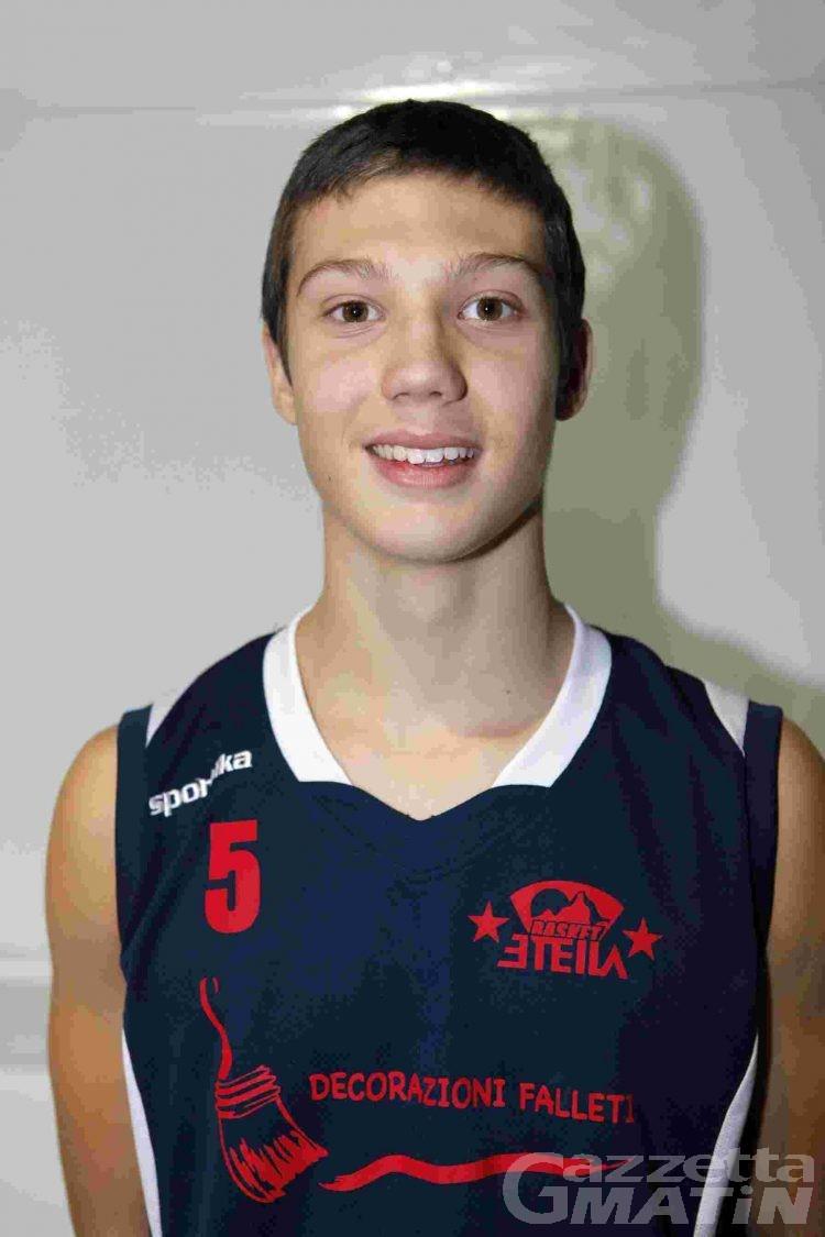 Basket giovanile: Alex Vaudan convocato a Guardamiglio