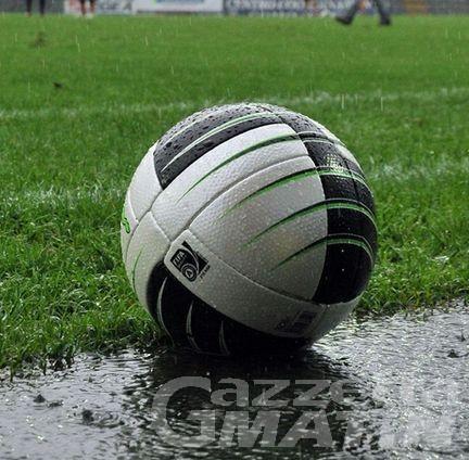 Calcio: il maltempo blocca il calcio regionale