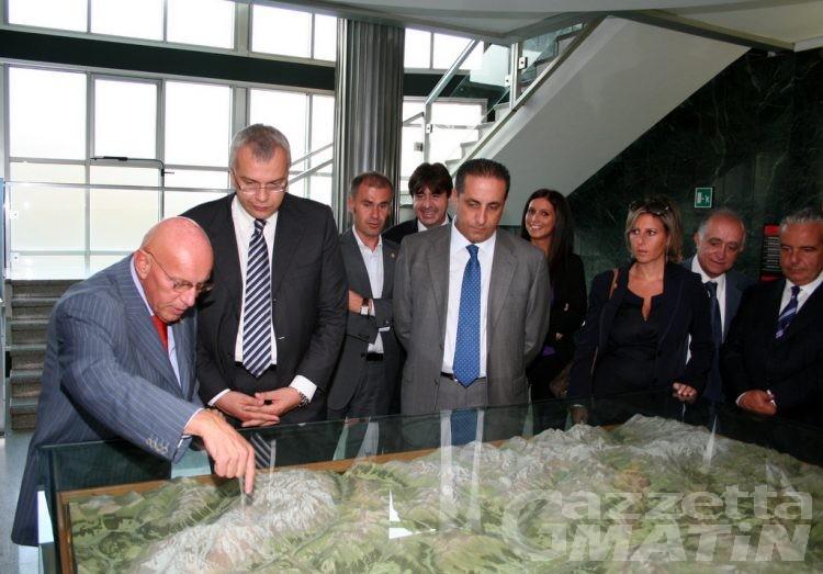 Il consiglio regionale calabrese in visita ai colleghi valdostani