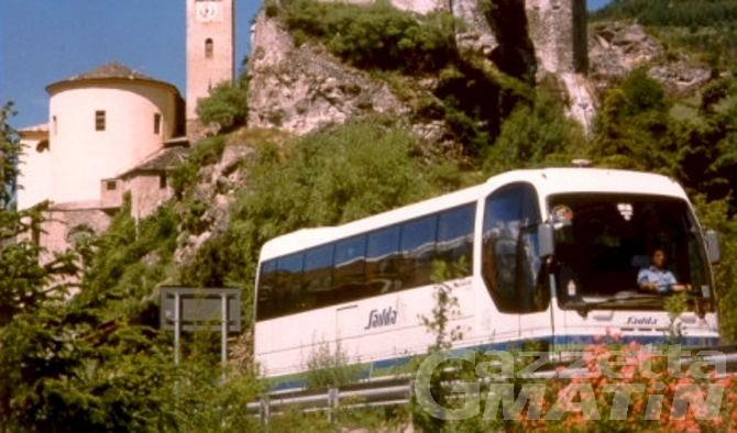 Trasporti: potenziati gli autobus sulla linea Aosta-Ivrea