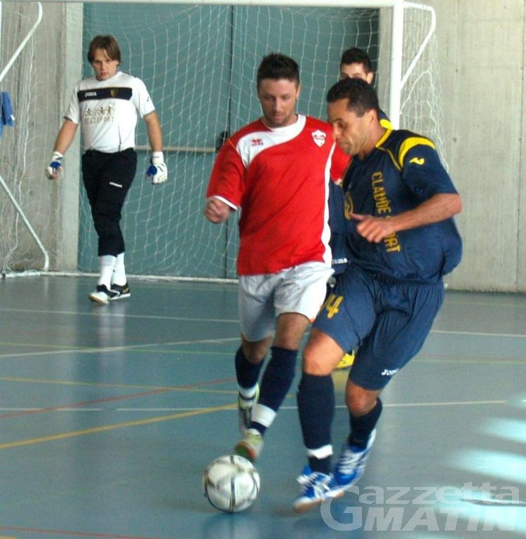 Calcio a 5: l'Aosta vince fuori, l'Ayma ferma il Carmagnola