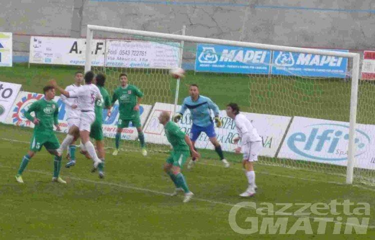 Calcio: Oggiano beffa il Vallée d'Aoste nel finale