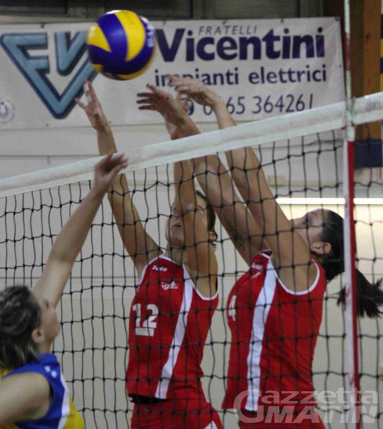 Volley: Bruno Tex in rimonta, crolla la Cogne A.S.