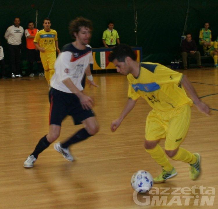 Calcio a 5: sconfitte Aosta e Aymavilles
