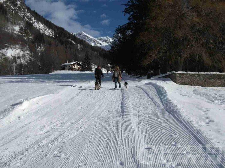 Courmayeur, a passeggio sulla neve