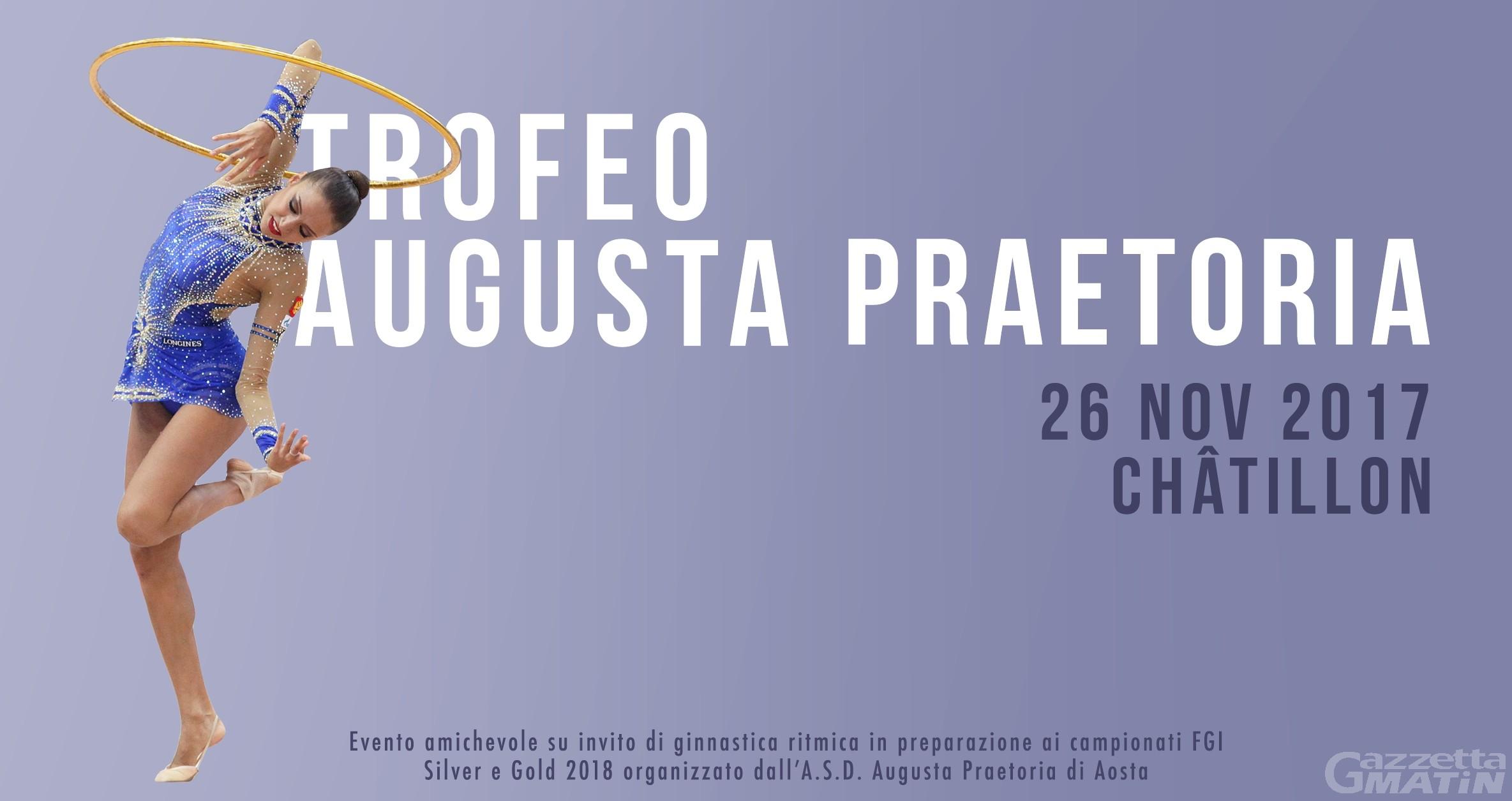 Ginnastica ritmica: domani il Trofeo Augusta Praetoria