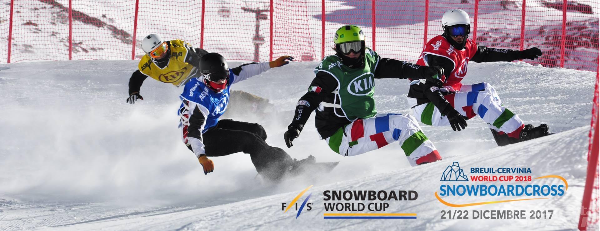Coppa del Mondo: confermato lo snowboardcross di Cervinia