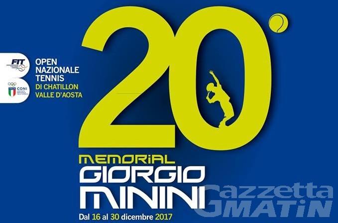 Tennis: decolla oggi il Memorial Giorgio Minini