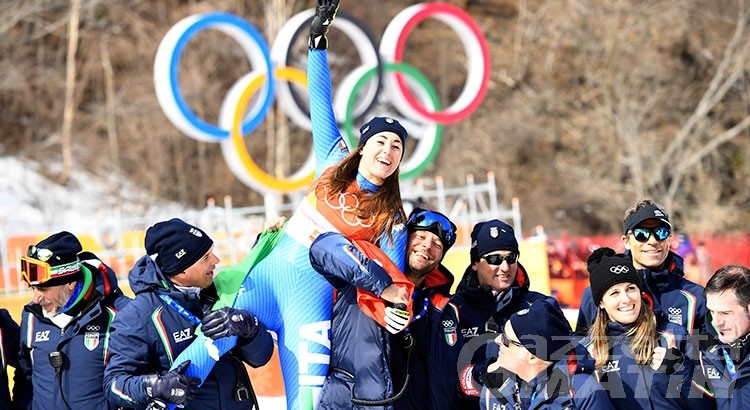 Olimpiadi: Federica Brignone cade in discesa