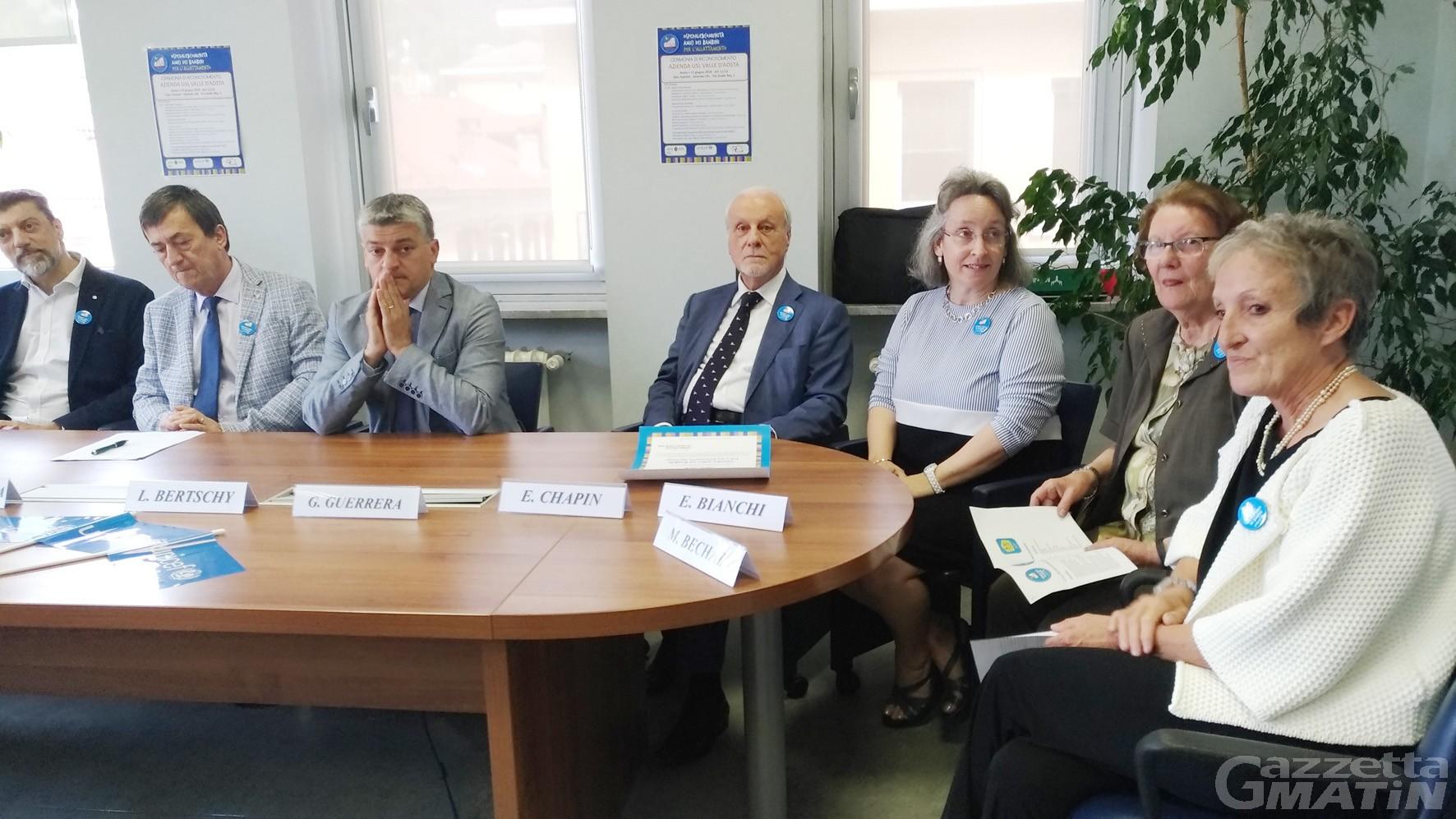 Ospedale Beauregard Aosta resta 'Amico dei bambini'