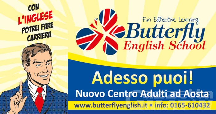 Aosta: Butterfly English School apre una nuova sede, solo per adulti