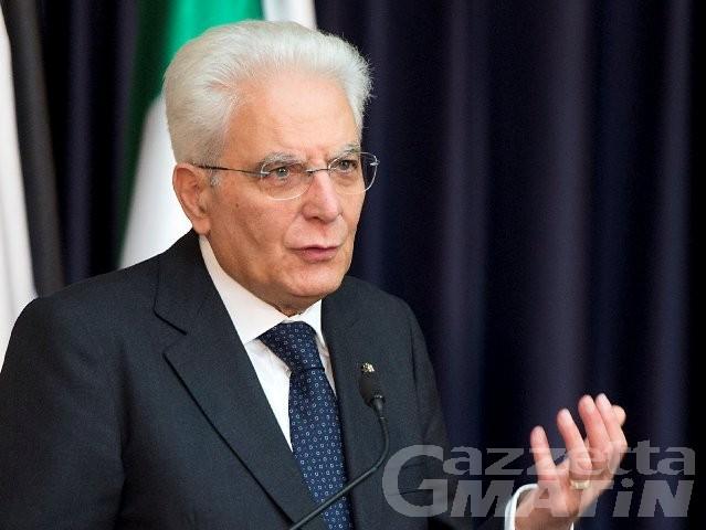 Il Presidente Sergio Mattarella  ad Aosta il 10 novembre