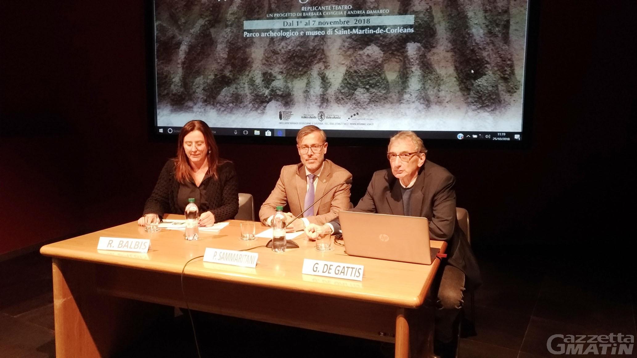 Teatro: l'area megalitica di Aosta si trasforma in palcoscenico