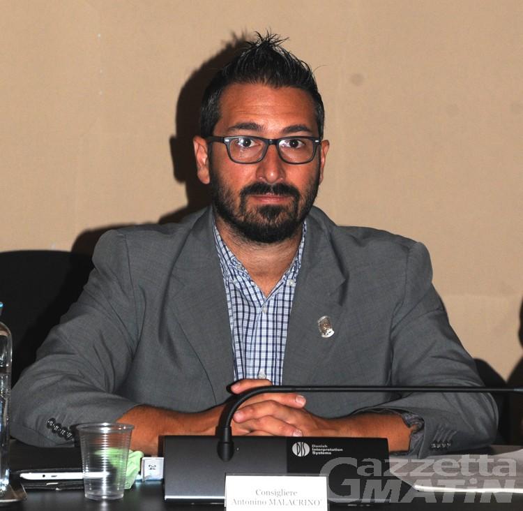 Aosta: Antonino Malacrinò nuovo assessore ai Lavori Pubblici