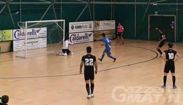 Calcio a 5: l'Aosta sgambetta la capolista Saints Pagnano