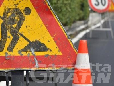 Gignod: lavori al viadotto Valcartey, c'è già la viabilità alternativa