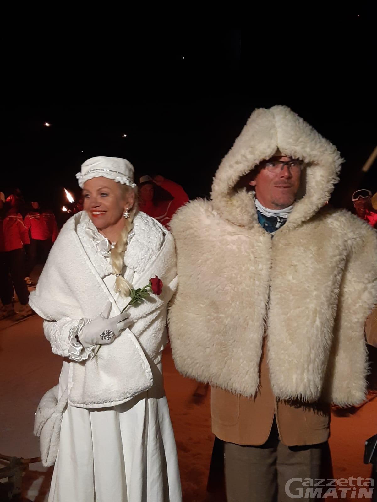 Carnevale di Cervinia: esordio di fuoco per Dama Bianca e Gargantua