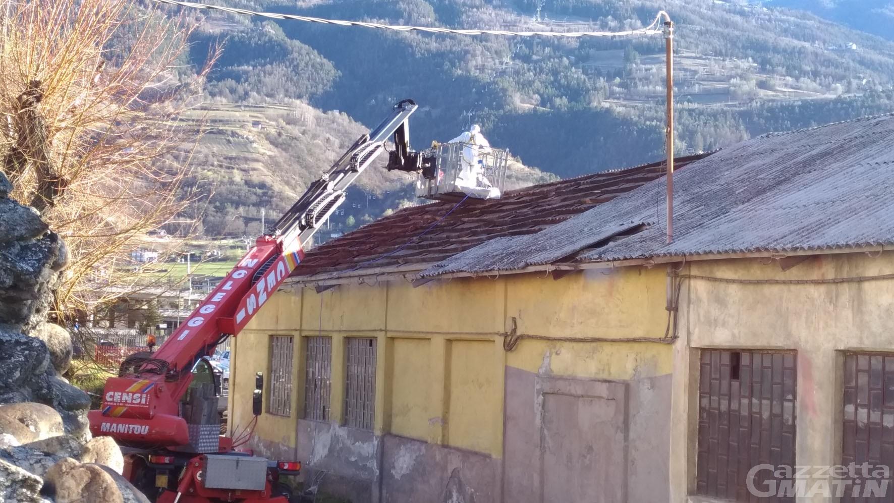 Amianto: al via la bonifica all'autolavaggio Pansera di Aosta