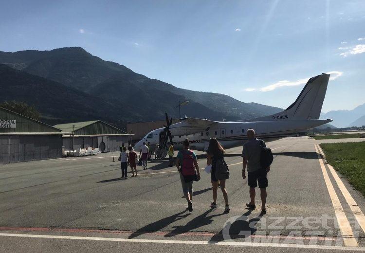 Volo Olbia-Aosta: troppo vento, l'aereo atterra a Torino