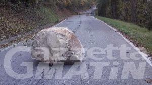 Frana a Roisan: chiusa la strada regionale per Valpelline