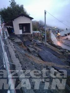 Maltempo: a Saint-Christophe chiusa la strada di Sorreley per una frana a Veynes