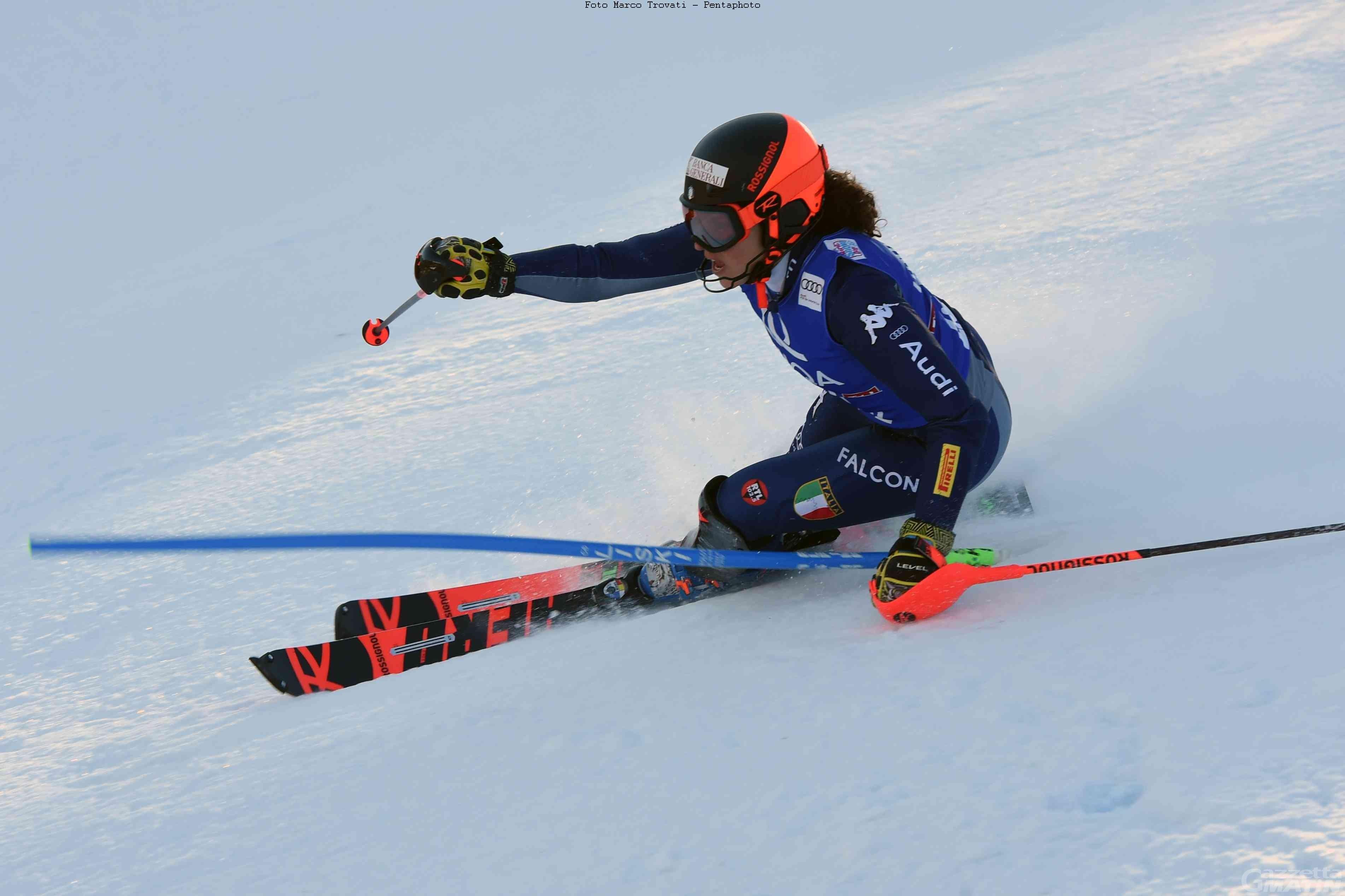 Sci alpino: Brignone qualificata per la seconda manche