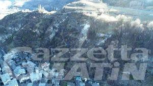 Frana di Villeneuve: i droni per monitorare la parete rocciosa