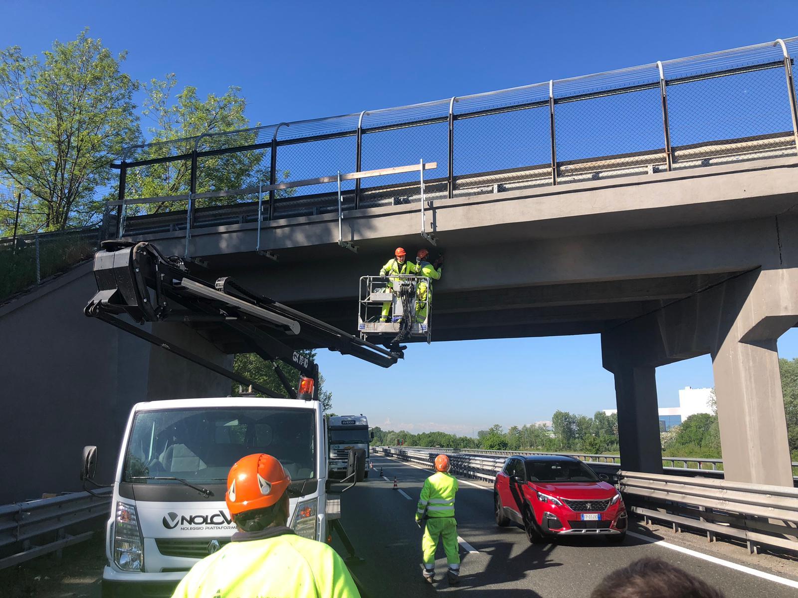 Partiti a Settimo Torinese i lavori sul cavalcavia sopra l'autostrada Torino – Ivrea