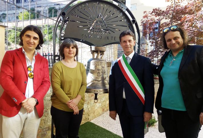 Montiglio Monferrato, per i 20 anni inaugurata la «Campana dei tre Comuni»
