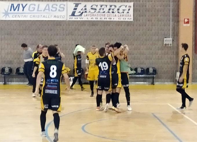 Calcio a 5 serie B/A, l'Elledì nel derby con il Rhibo Fossano «Piazza» il colpo vincente!