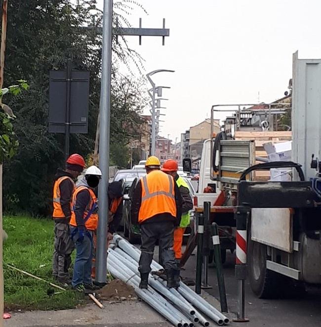 MONCALIERI – Nuovi impianti di illuminazione in via Sestriere