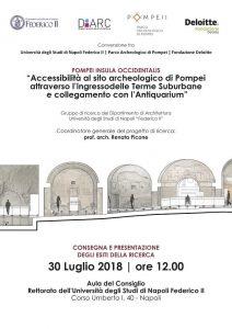 Pompei: le Terme suburbane senza barriere per i disabili. Il progetto della Federico II,  finanziato da