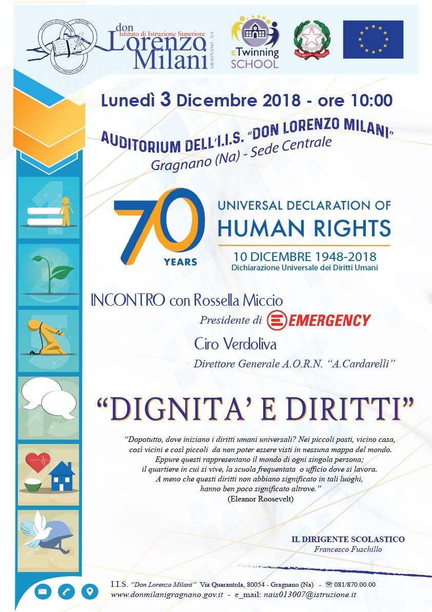 Dichiarazione Universale dei Diritti Umani, incontro a Gragnano con gli studenti