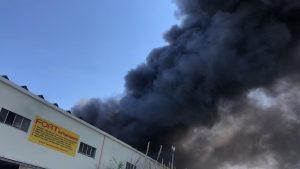 Paura a Castellammare, rogo distrugge azienda di cosmetici: si temono dipendenti intrappolati nei capannoni -  IL VIDEO